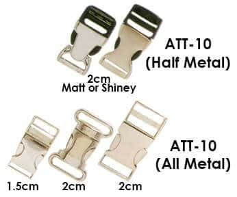 metal and half metal lanyard clips