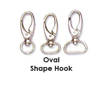 lanyard_metal oval shaped casps