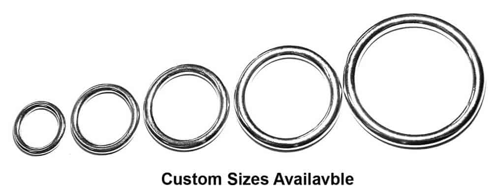 custom sized metal rings and accessories available in large order wholesale