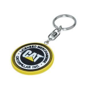 logo printed on rubber keyring 140