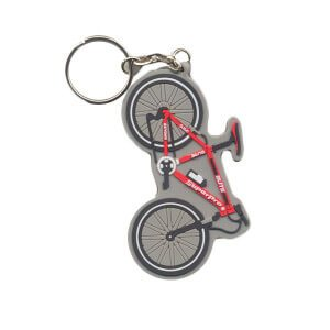 bike or custom shaped rubber keyrings
