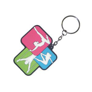 logo on sports rubber keyring