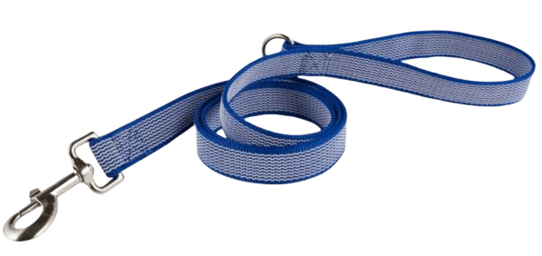 Custom leash with-dog clip and strong stiched material in multiple threads.