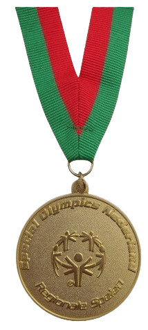 Custom made medal for special olympics.