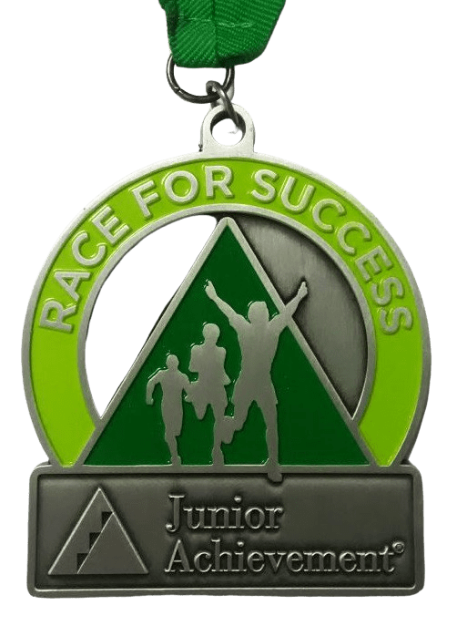 Custom medallion for junior sports tournament.