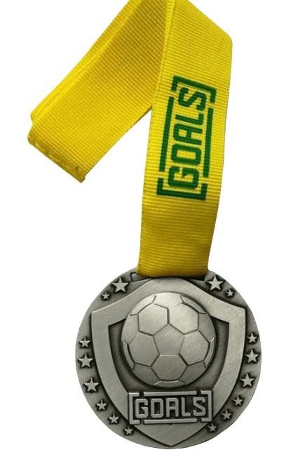 Custom made medal for best football goals winner.