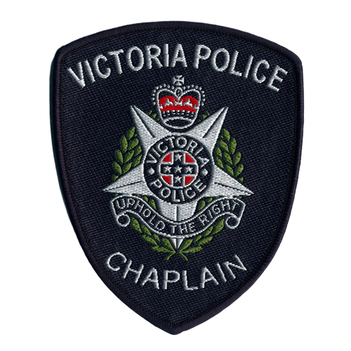 EPAT-34 Custom embroidery patch police force chaplain.