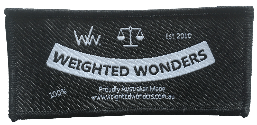 Custom woven label in a rectangular shape with 1 colour stitching. It featues very finely woven lettering which is very legible.