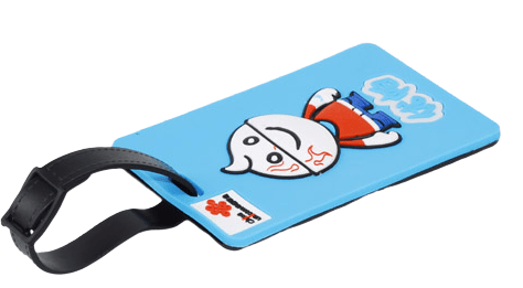 Soft Rubber Luggage Tag. Size: 9 x 5.5 x 0.5CM. Weight: 56.5g Can create a custom logo finish by molding (.3D design)