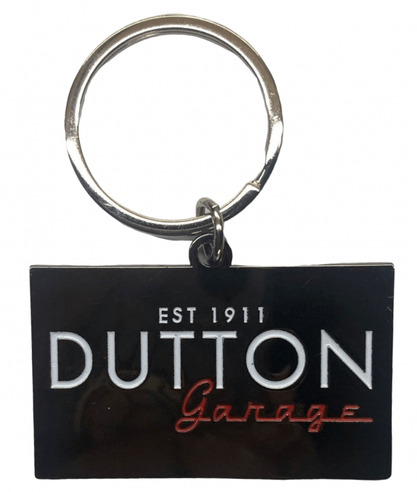 Custom metal keyring with engraved logo for a car dealership