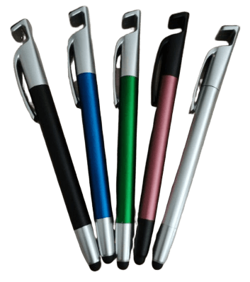 Personalised aluminium pens in various colours.
