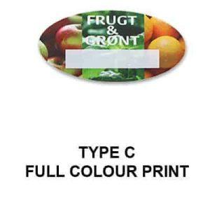 Custom plastic badge with a full colour printed design finish.