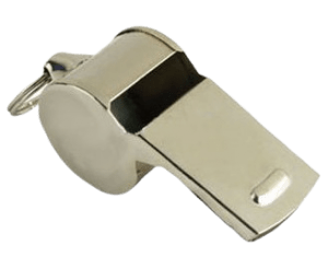 Custom metal whistles with nickel plating