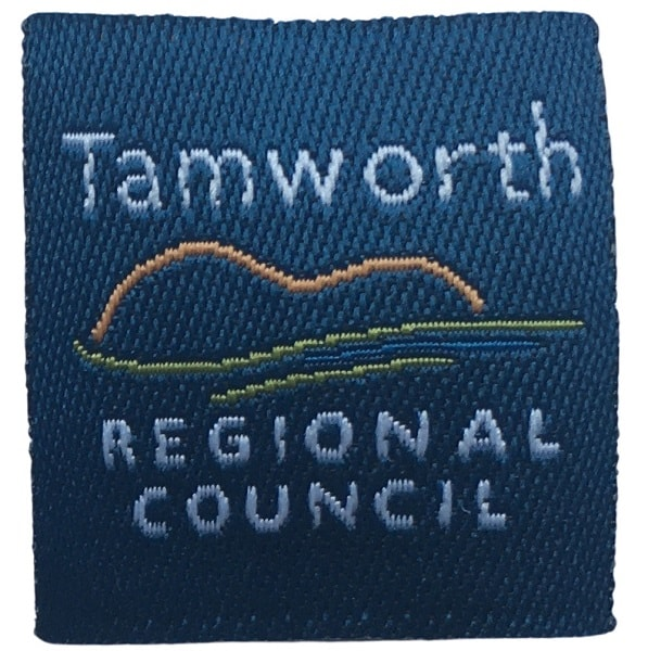 Clothing woven patch for Tamworth Regional Council