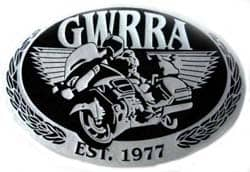 Example of a custom clothing patch to create silver matellic finish. This is a design for a motocycle company logo.