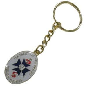 metal enameled keyring own design with customised design, shape, logo order wholesale
