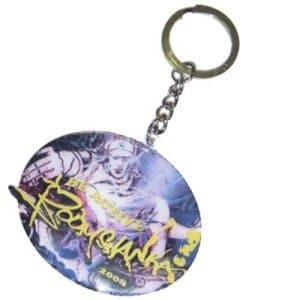 metal_keyring_with_printed_artwork for promotion, logo and events bulk