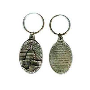oval metal stamped brass keyring for promotion, logo and events bulk