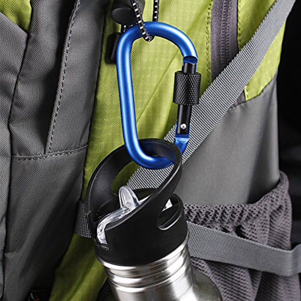 High quality D Shaped carabiner hook.