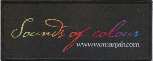 Custom woven label in rectanglar shape for a womens organisation.