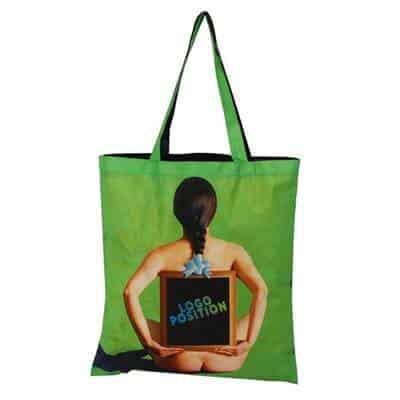 Custom non-woven shopping bag. The material: 80g pp non-woven . Size: 37*42cm ; hand size: 2.5*60CM. Logo: Heat-transfer printing.