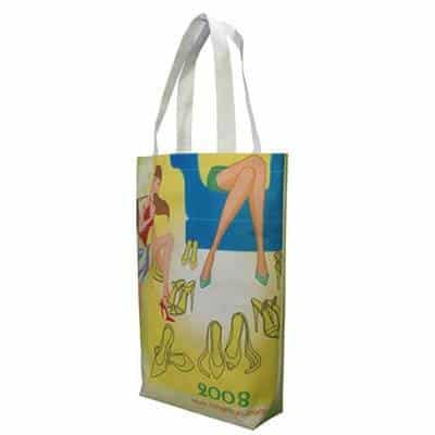 Personalised Non-Woven shopping bag. Material: 110g PET Non-woven Fabric. Logo: Heat-transfer printing.
