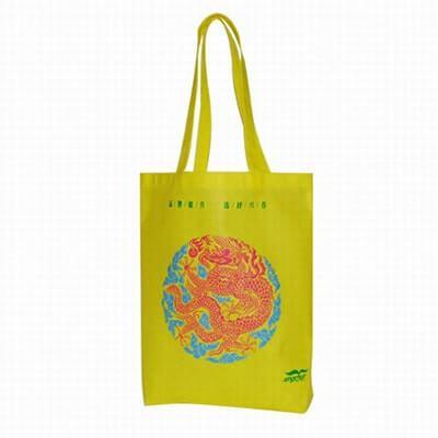 Non-Woven shopping bag. Material: 80g PP Non-woven. Size: 37*42*8 (gusset) cm. Logo: silk-screen printing,off-set printing.