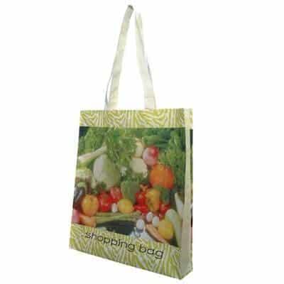 Non-Woven shopping bag. Material: 80g PET Non-woven. Size: 37*42*8(gusset) cm. Logo: Heat-transfer printing.