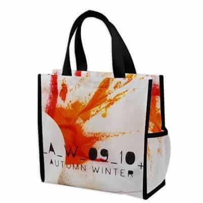 Custom non woven bag with full colour logo.
