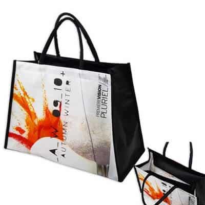 Custom non woven bag with a full colour imprint.
