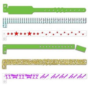 plastic-one-time-wristband bulk wholesale logo design
