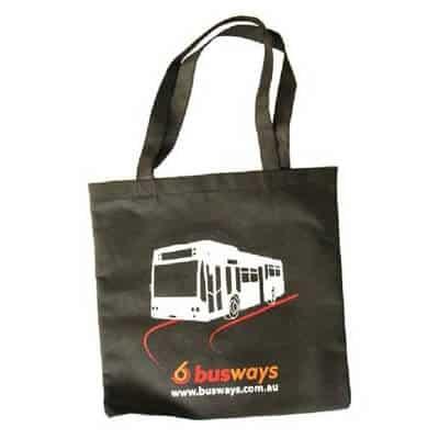 Custom printed non woven bag with an overprinted logo.