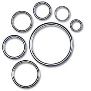 metal rings for wholesale, custom sized stainless steel or plated