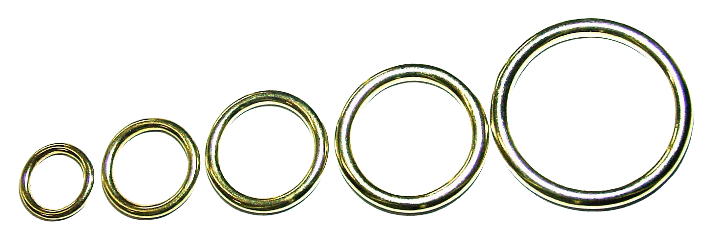 Metal sealed rings in various sizes.