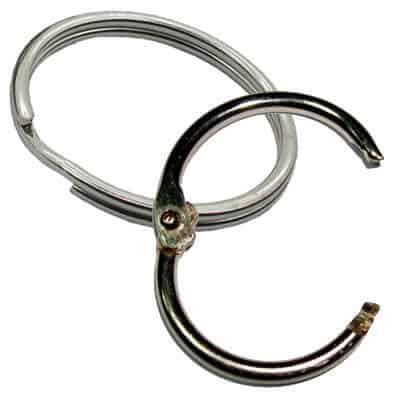 split rings and snap rings for lanyards, keyrings and accessories wholesale