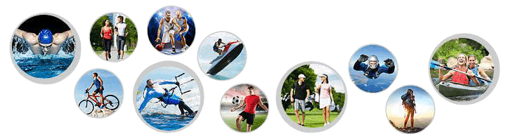 Examples of what sporting and leisure activities that are popular for wearing custom sunglasses straps.