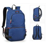 Blue outdoor camping backpack.