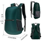 Various angle view of a custom handy folding backpack.