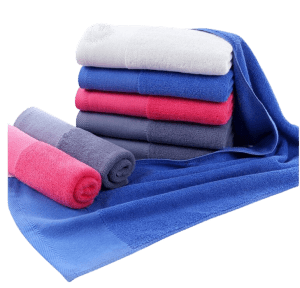 Custom slim compact towel in assorted colours.