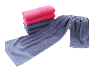 Grey and pink pictured custom slim compact towel.